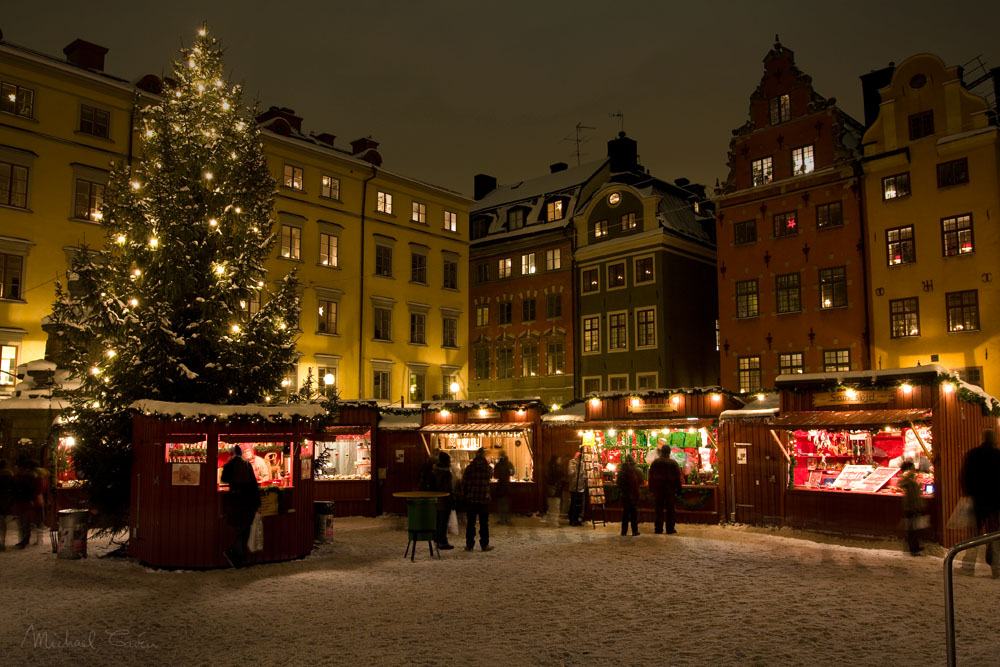 Christmas market in Stockholm Old Town / Michael Caven / CC BY 2.0