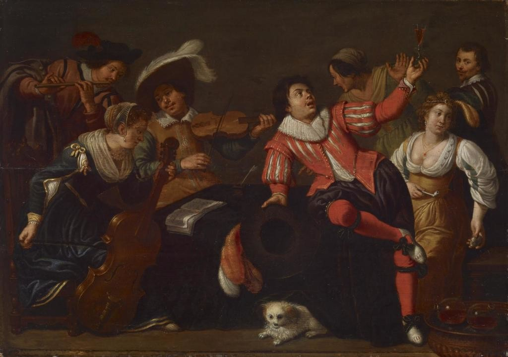 "Весела компанія ""Merry Company"" by Jan van Bijlert, ca. 1630"