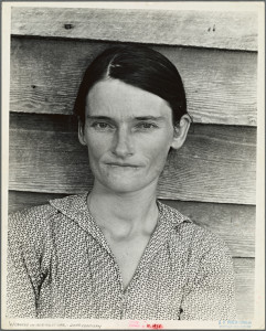 Evans, Walker: Allie Mae Burroughs, wife of cotton sharecropper. Hale County, Alabama