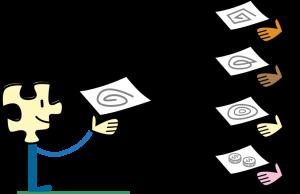 зображення «Ділюся» — Wikimedia Foundation, Inc. / Юрій Булка, ліцензія cc by-sa 3.0 (фрагмент з «Licensing tutorial»)